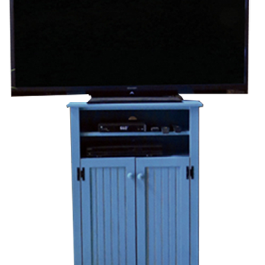 custom tall tv stand