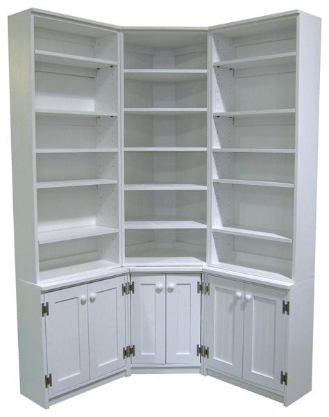 Custom Corner Bookshelf Unit